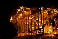Husbrand. arkivbild