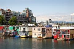 Husbåtgemenskap Victoria, British Columbia Arkivbilder
