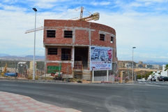 Husbyggnad i Gran Alacant Royaltyfri Bild