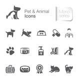 Husdjur & djura släkta symboler stock illustrationer
