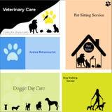 husdjur för hundar för affärskort Arkivbilder