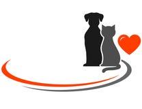 Husdjur och ställe för text stock illustrationer