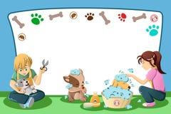 Husdjur som ansar annonseringen vektor illustrationer