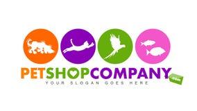 Husdjuret shoppar logo stock illustrationer