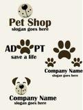 Husdjuret shoppar logo Royaltyfria Foton