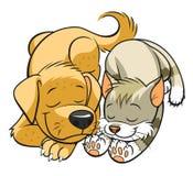 Husdjursömnar royaltyfri illustrationer