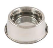Husdjurs isolerad bunke för metall för hund Royaltyfri Fotografi