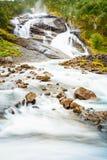 Husedalen - valle de las cascadas Noruega El rastro Fotografía de archivo