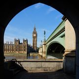 Husen av parlamentet i London Arkivbilder