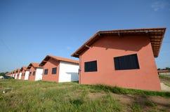Häuser in der Reihe Stockbild