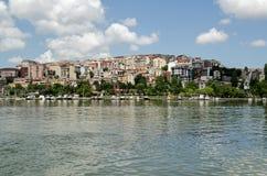 Häuser, die das goldene Horn, Istanbul übersehen Lizenzfreies Stockfoto