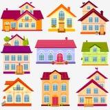 Häuser eingestellt Stockbild