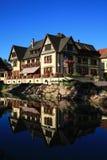 Häuser in Elsass Lizenzfreies Stockfoto