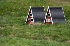 Häuser für Elfe Stockfoto