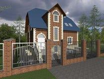 huset 3d skissar Arkivbilder