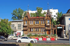 Huset av adelsmannen Yu I Poplavsky på gatan av Frunze, 171 samara Royaltyfri Foto