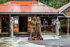 Huset av konst på stranden Nan Nan Thailand Arkivfoton