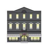 Huset av mörker - grå färg Arkivbilder