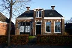 Huset av min farfar i Garijp Frisia Arkivbild