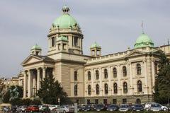Huset av nationalförsamlingen av republiken av Serbien är platsen av nationalförsamlingen av Serbien fotografering för bildbyråer