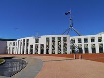 Huset av parlamentet i Canberra royaltyfria foton