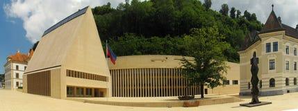 Huset av parlamentet i Vaduz Royaltyfri Foto