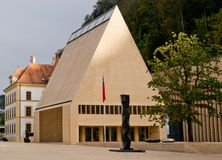 Huset av parlamentet i Vaduz arkivfoto
