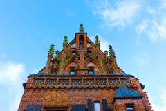 Huset av Perkunas eller åska som byggs i det 15th århundradet i Kaunas Arkivfoton