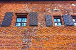 Huset av Perkunas eller åska som byggs i det 15th århundradet i Kaunas Arkivbild