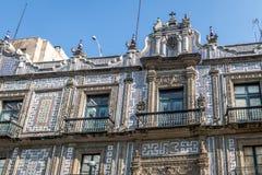 Huset av tegelplattor Casa de los Azulejos - Mexico - stad, Mexico Royaltyfri Fotografi