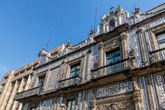 Huset av tegelplattor Casa de los Azulejos - Mexico - stad, Mexico arkivbilder