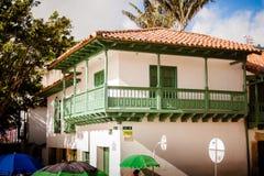 Huset av vasen, la casa del florero bogota Colombia Arkivbild
