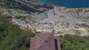 Huset av yoga i bergen, Blacket Sea, bergen, Kaukasuset, Abrau-Dyurso lager videofilmer