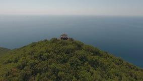 Huset av yoga i bergen, Blacket Sea, bergen, Kaukasuset, Abrau-Dyurso stock video