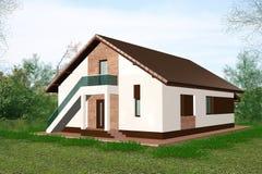 huset 3d framför Arkivbilder