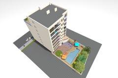 huset 3D framför i Armenien Arkivbild