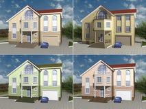 huset för tolkningen 3D modellerar Royaltyfri Fotografi
