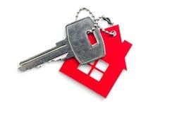 Huset format nyckel- kedjar arkivbild