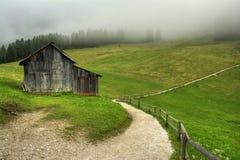 Huset i bergen Arkivfoto