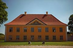 Huset i parkerar, copenhagen royaltyfri bild