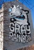 Huset med Kiwie grafitti. Royaltyfri Foto