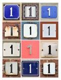 Huset numrerar en Arkivfoton