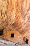 Huset på brandindier fördärvar mulaliten vik Cedar Mesa Utah Arkivbilder