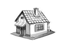 huset skissar Arkivbild