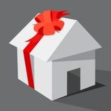 Huset som gåvan. royaltyfri illustrationer