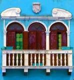 Husfönster, Venedig, Italien Royaltyfri Fotografi