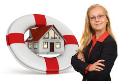 husförsäkringservice Royaltyfri Fotografi