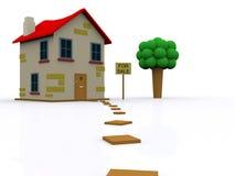 husförsäljning Fotografering för Bildbyråer