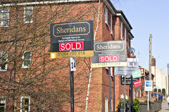 Husförsäljningar Arkivbild