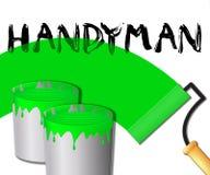HusfaktotumDisplays Home Repairman 3d illustration Royaltyfri Illustrationer